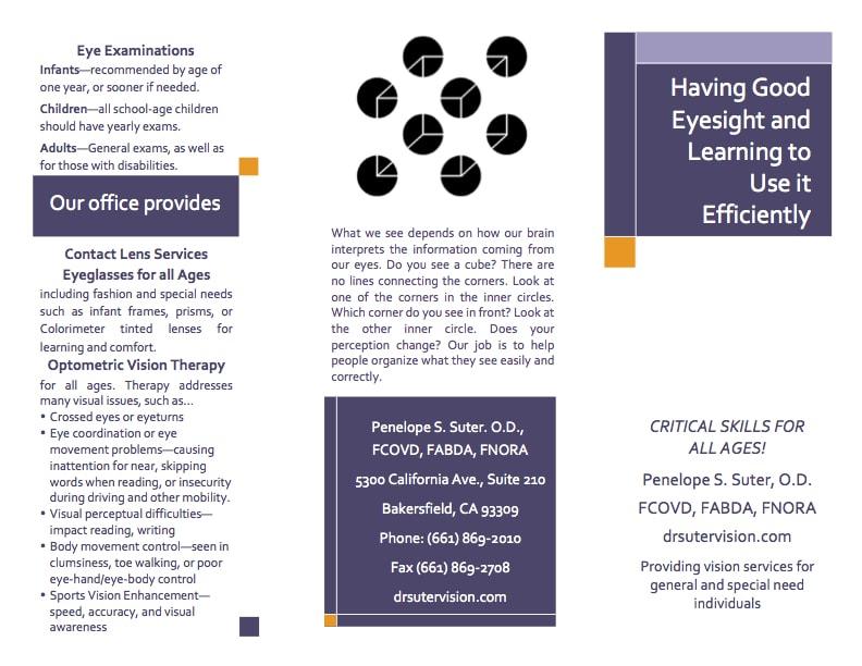 Page 1 of Good Eyesight Brochure