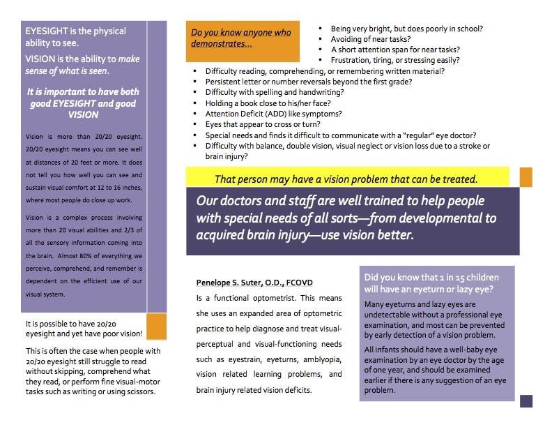 Page 2 of Good Eyesight Brochure